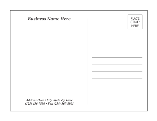 Template 1 – Free Postcard Template Download