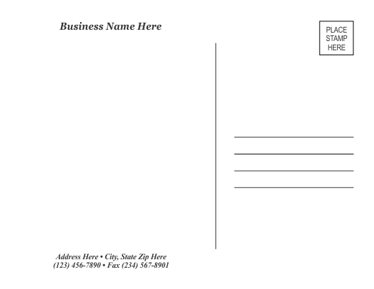 It's just an image of Printable Postcards Templates with modern postcard
