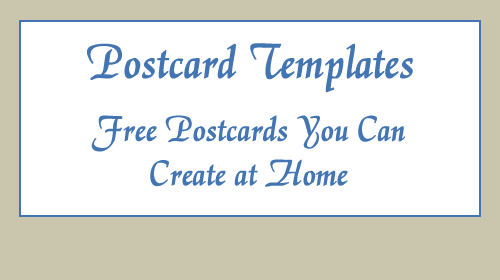 This is a photo of Printable Postcards Templates with regard to vintage style